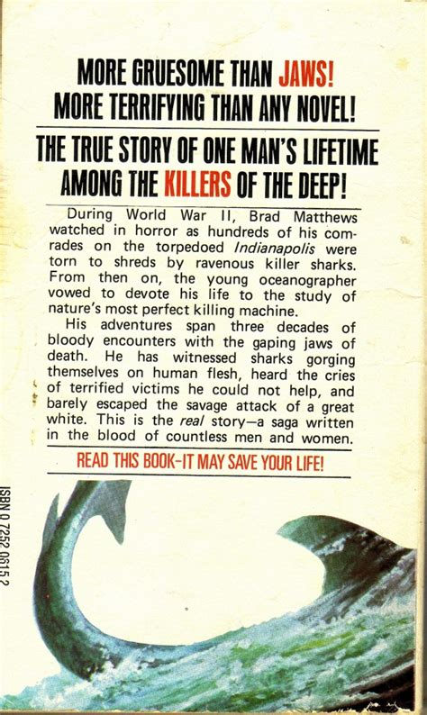 """Forty years later: the book jacket for """"Jaws"""" » MobyLives"""