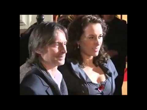 Actor Robert Carlyle with his wife Anastasia Shirley and