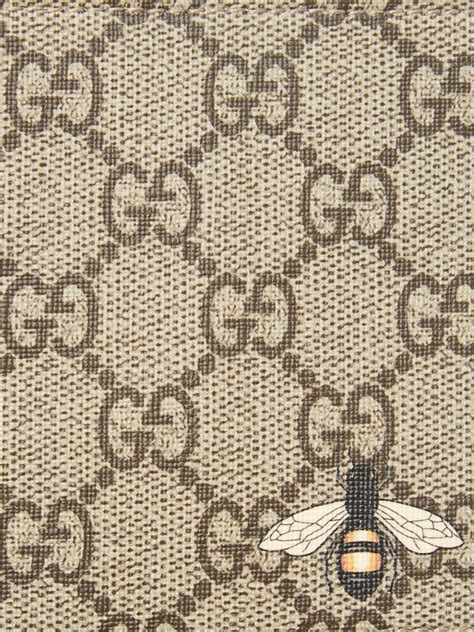 Gucci Canvas Gg Supreme Bee-print Wallet in Brown for Men