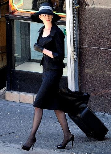 Anne Hathaway Gets Dolled Up on Set of 'Dark Knight Rises'