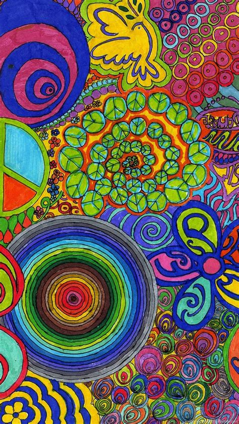 Abstract Wallpaper: Hippie Flower Free Wallpapers For HD