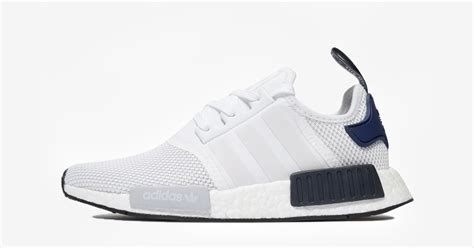 Adidas NMD R1 White Navy JD Sports - Cool Sneakers