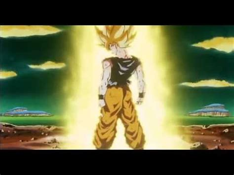 goku turns super saiyan 1 for the first time - YouTube