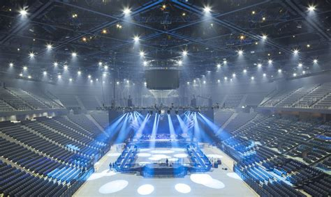 Giant green pyramid rises in Paris - the AccorHotels Arena