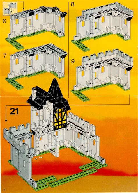 LEGO 10039 Black Falcon's Fortress Instructions, Castle