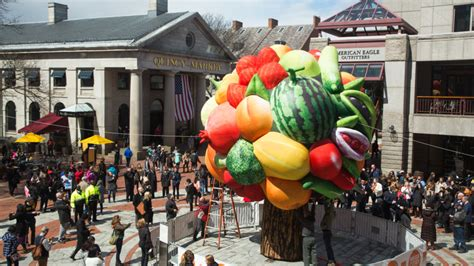Watch a 23-foot-tall inflatable fruit tree come to life at