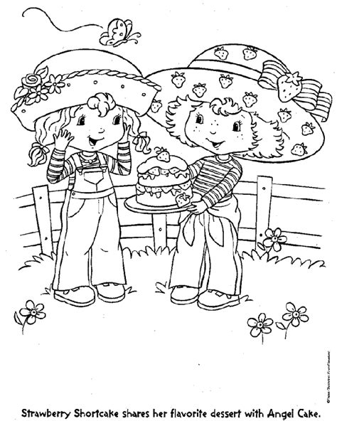 Vintage Strawberry Shortcake Coloring Pages - Coloring Home