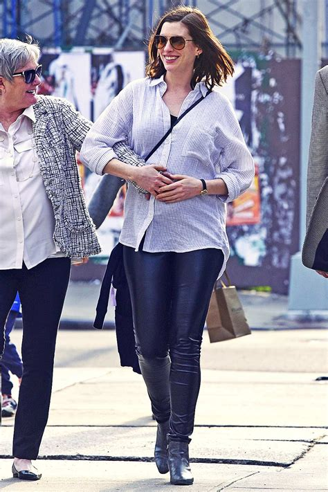 Anne Hathaway out in downtown New York - Leather Celebrities