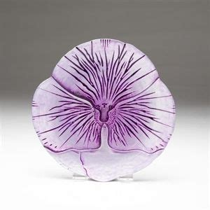 Red Pomegranate Pansy Plate, Violet 8