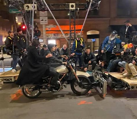 Neo and Trinity Ride a Ducati Again in Matrix 4 Leaked Set