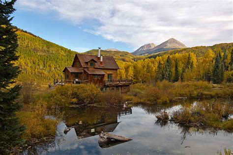 Breathtaking landscapes in Dunton Hot Spring Resort, Colorado