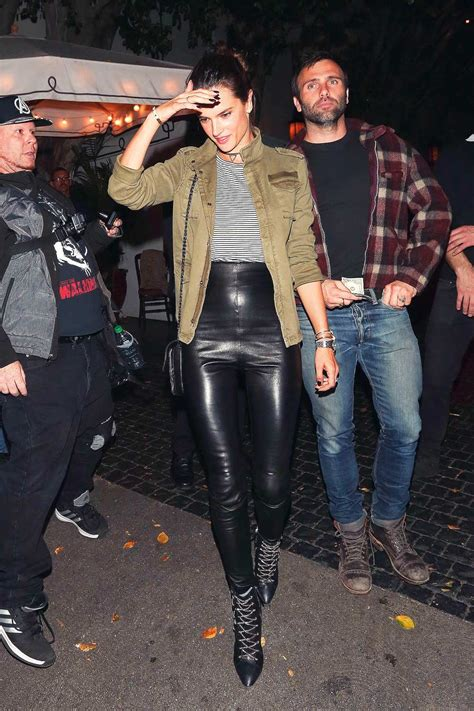 Alessandra Ambrosio dinner at Chateau Marmont - Leather