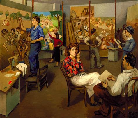 Moses Soyer - Artists on WPA [1935] | Dedicated to art